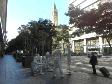 Brisbane statues and Town Hall
