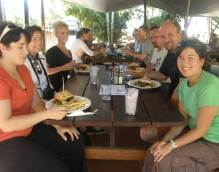 Intecol group at lunch