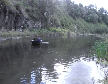 canoeing on Running Creek